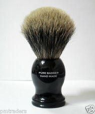 100% Pure Badger Shaving Brush With Black Handle & Stand