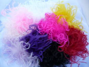 Curly Ostrich Feather Puff Hair Clip Brooch Lapel Pin!