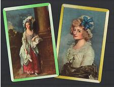 Playing Swap Cards 2  VINT  PAINTINGS  REGENCY  LADIES. ALL DRESSED UP!!! W193
