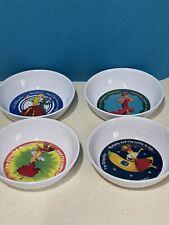 VERY RARE Lot of 4 Chiquita Banana Anacapa Melamine Bowls Vintage 1987