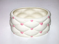 """Beautiful Vintage """"Tufted"""" Oval Bowl"""