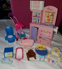 LOT OF BARBIE DOLL BABY FURNITURE & ACCESSORIES