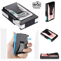 Slim Pocket Wallet ID Credit Card Holder Case RFID Blocking Money Clip Purse