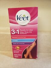 VEET HAIR REMOVER LEGS SHEA BUTTER WAX STRIPS 3 IN 1 40 STRIPS