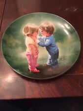 "DONALD ZOLAN COLLECTIBLE PLATES SHARING SECRETS 7 1/2"" Certificate Original Box"
