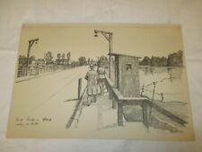 um 1939 Organisation Todt - Brücke im Elsaß erbaut von O.T. / Haus Wachtsoldat