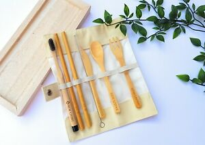 Bamboo Cutlery Set, Bamboo Toothbrush, Bamboo Straws, UK Seller Free Delivery