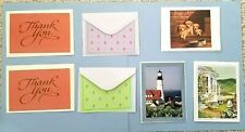 Assortment Blank Note Cards - 7 Cards - New - Current, American Greeting, Pva