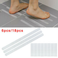 6/18* Safety T-Strips Clear Non-Slip Applique Mat Stickers For Bath Tub & Shower