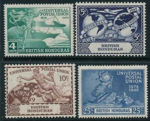 British Honduras 1949 UPU SG 172-175 MNH
