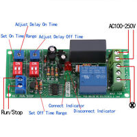 AC 100V-250V Adjustable Infinite Cycle Timer Delay On/Off Switch Relay Module GD