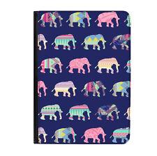 "Patchwork Elephants Pattern Universal Tablet 9-10.1"" Leather Flip Case Cover"