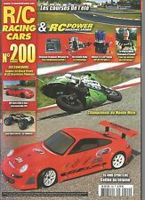 R/C RACING CAR N°200 F4 4WD SPORTLINE / HPI NIITRO RS4 3 EVO + INTEMPORELLE 911