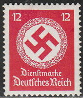 Stamp Germany Official Mi 138a Sc O98a 1934 WWII Dienst War 3rd Reich Hitler MH