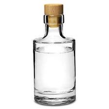 Galileo Flint Glass Bottle with Cork 7oz / 200ml - Set of 4 - Glass Bottle