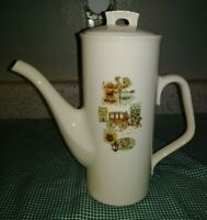 Taylor Smith & Taylor Cape Cod Coffee Pot Ever Yours Stagecoach Colonial Signs