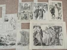 PUNCH MIXED TOPICS CARTOONS 1909 HOLIDAY DRUNKARD HUMOUR