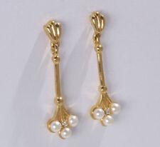 Gelbgold beschichteter Mode-Ohrschmuck für Damen mit Perle