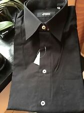 "Ferre Collection ""Trend"" Black Men's Dress Shirt US 16 1/2 IT 42"