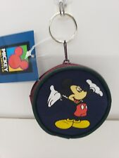 "Mickey Mouse Coin Purse Keychain Disney Zipper 3"" Collectible vintage new"