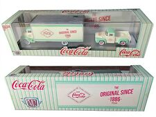 COCA COLA  1956 FORD COE AND 1956 FORD F100 M2 MACHINES AUTO HAULERS TRUCK