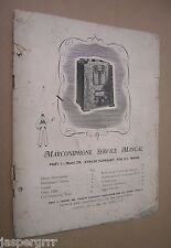 1934 ORIGINAL MARCONIPHONE SERVICE MANUAL. MODEL 278 & 280. RADIO WIRELESS