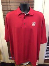 FootJoy Mens Polo Golf Shirt Sz Xl Red Polyester Spandex Prodry Lisle Logo Chest