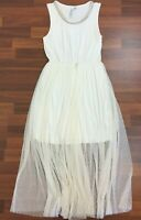 Forever New Womens Ivory Sleeveless Lined Dress Size 12