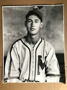 Estate Find Vintage 16x20 Ted Williams BOSTON RED SOX Silver Gelatin Photograph