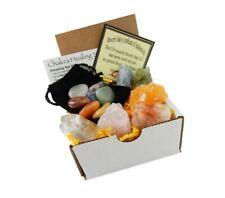 Mineral Stones Starter Crystal Healing Kit 6 Colorful 7 Chakra Tumbled GEMSTONES