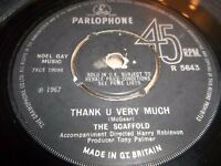 """THE SCAFFOLD """" THANK YOU VERY MUCH """" 7"""" SINGLE GOOD+ PARLOPHONE R 5643 ( 1967 )"""