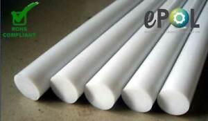 PTFE/ TEFLON ROD VIRGIN WHITE 8MM DIA X 1M LONG FREE SHIPPING