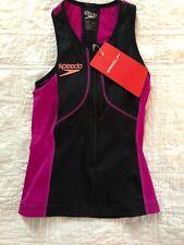 Speedo Women's Fastskin Xenon Tri Singlet Top, Size Small, Nwt