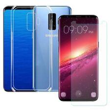 Silikoncase Transparent + Panzerfolie für Samsung Galaxy S9 Plus G965F Tasche