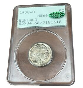 1938-D Buffalo Nickel  PCGS MS66 CAC
