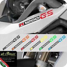 2 Adesivi Fianco Serbatoio Moto BMW R 1200 gs LC becco 2 colori