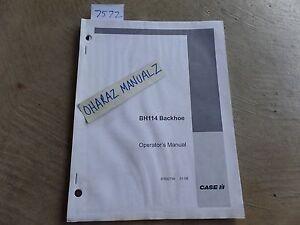 CASE BH114 Backhoe Operator's Manual