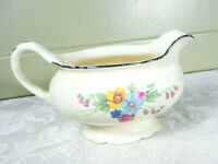 Vintage Homer Laughlin Virginia Rose Small Floral Pitcher Gravy Dish #J51N8