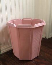 Vtg Mid Century Rubbermaid Pink Wastebasket Trash Waste Can Garbage Minty!