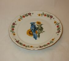 "Gibson Fine China Collectibles Blue Jay Chicadee 10"" Plates"