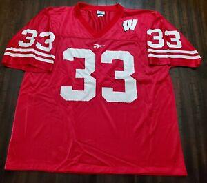 Vintage Reebok Ron Dayne Wisconsin Badgers Jersey Mens XL Red
