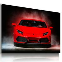 LAMBORGHINI HURACAN RED Sports Cars Wall Art Canvas Picture  AU752  MATAGA