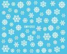 Nailart stickers autocollants ongles scrapbooking: flocons de neige blancs