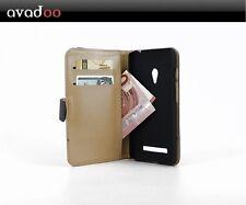 avadoo® Asus Zenfone 5 Flip Case Schutz Hülle Tasche schwarz-Weiß