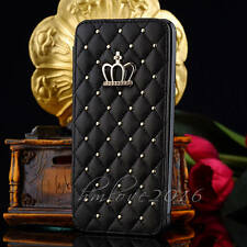 Luxury Crown Bling Wallet Card Flip Leather Case For Samsung Galaxy A5 J3 (2017)