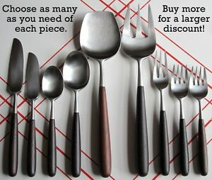 Choose Your Japan Pieces of Lauffer Palisander Stainless Steel Rosewood Flatware