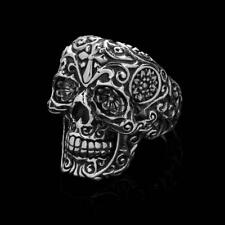 NEW LOS MUERTOS Clocks and Colours 925 Sterling Silver Ring Size 8 Mens LTD RARE