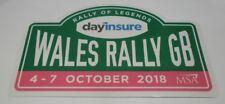 OFFICIAL 2018 WALES RALLY GB STICKER DECAL NEW WRC MEEKE OGIER LATVALA LOEB