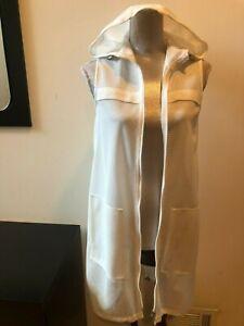 NEW ELIE TAHARI SPORT WHITE HOODED NET BEACH DRESS SWIM  SIZE S COVER UP