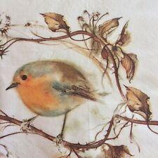 paper napkins decoupage x 2 Christmas robin 21cm